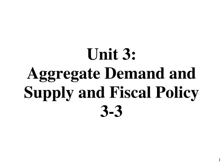 unit 3 aggregate demand and supply and fiscal policy 3 3 n.