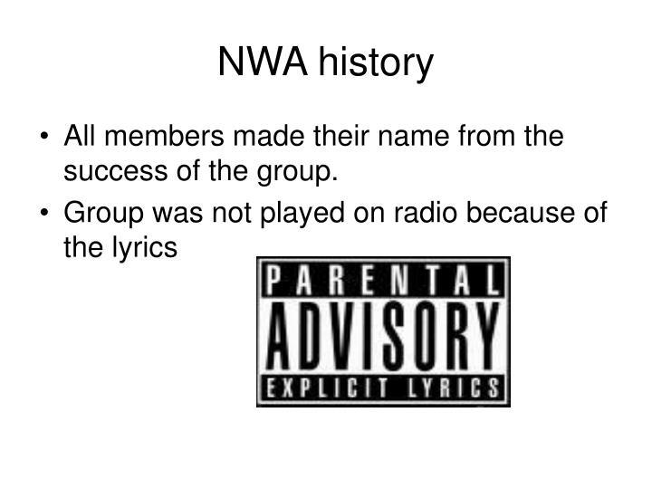 NWA history
