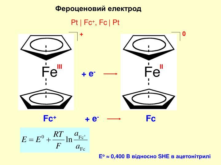 Фероценовий електрод