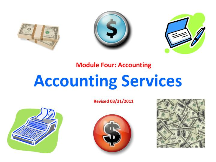 accounting services n.