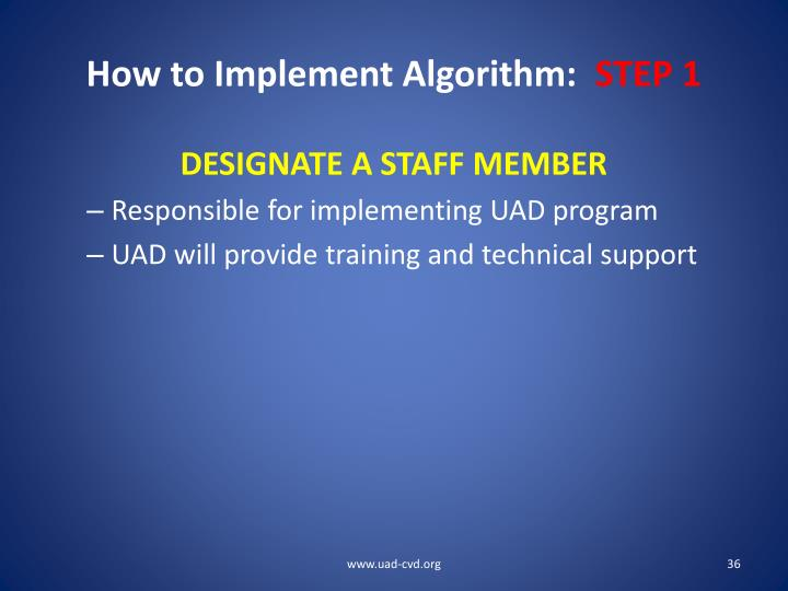 How to Implement Algorithm: