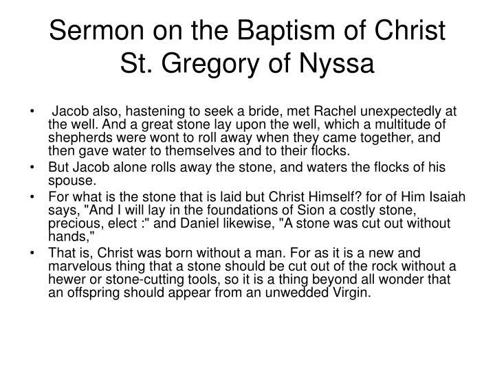 Sermon on the Baptism of Christ