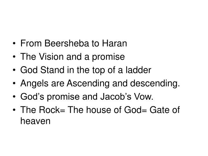 From Beersheba to Haran