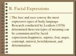 b facial expressions