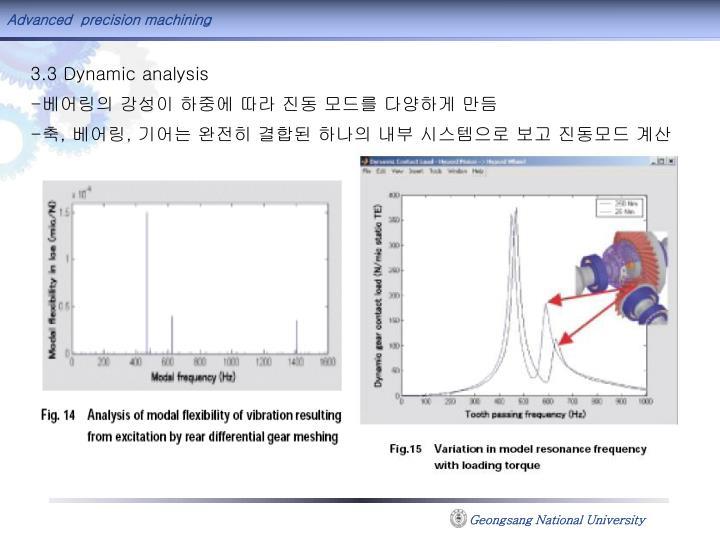3.3 Dynamic analysis