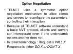option negotiation