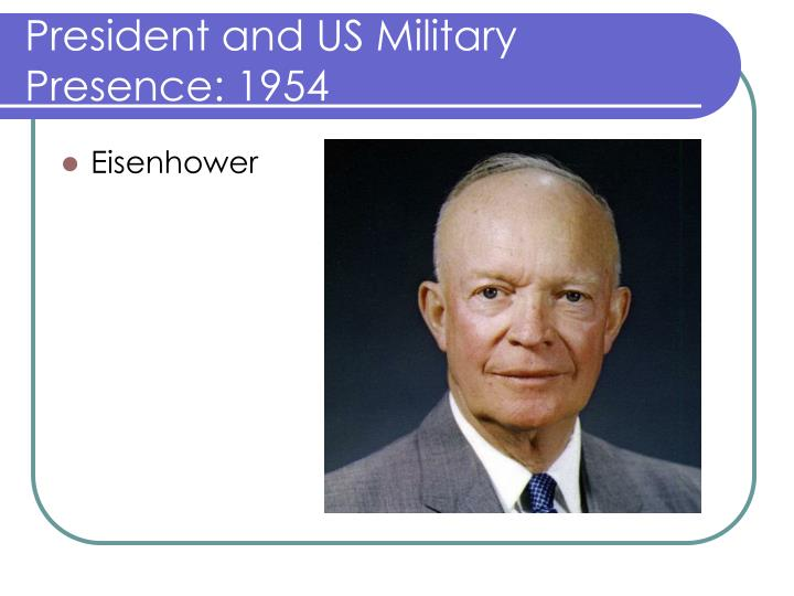 President and US Military Presence: 1954