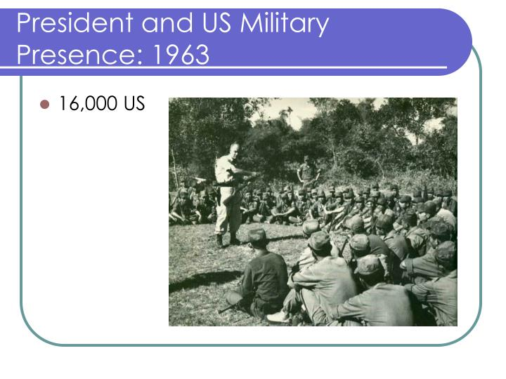 President and US Military Presence: 1963
