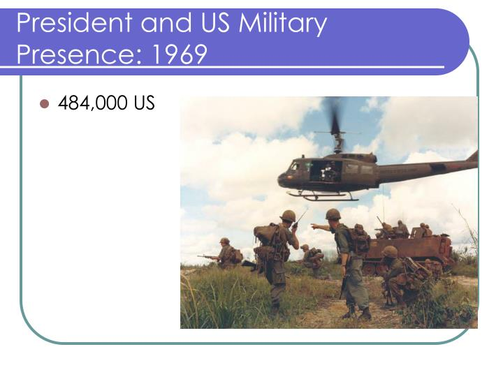 President and US Military Presence: 1969