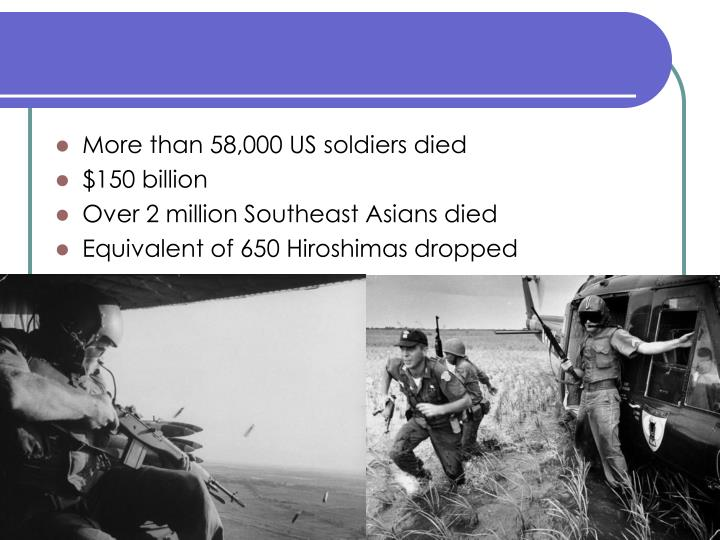 More than 58,000 US soldiers died