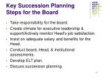 key succession planning steps for the board