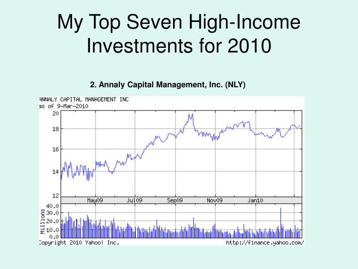 My TopSeven High-Income Investments for 2010
