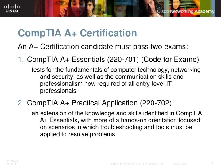 Comptia a certification