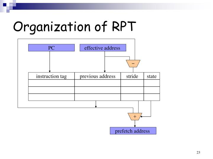 Organization of RPT