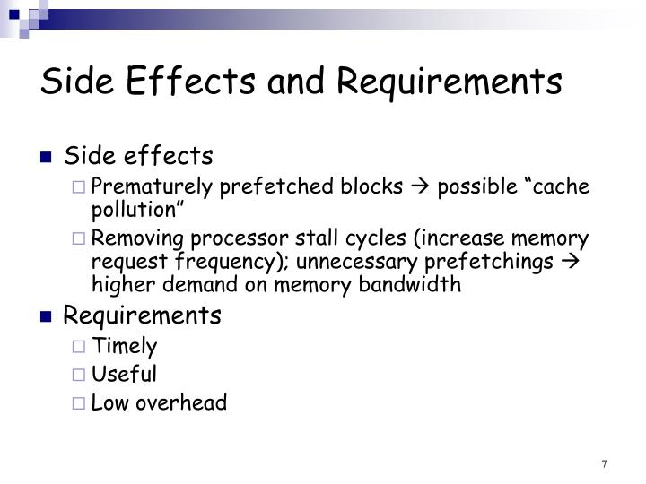 Side Effects and Requirements
