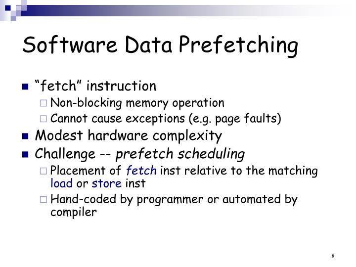 Software Data Prefetching