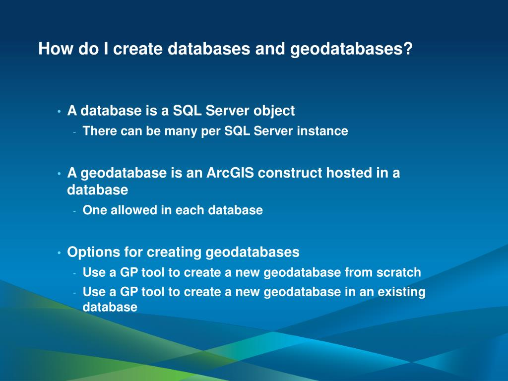 PPT - Administering Your Microsoft SQL Server Geodatabase