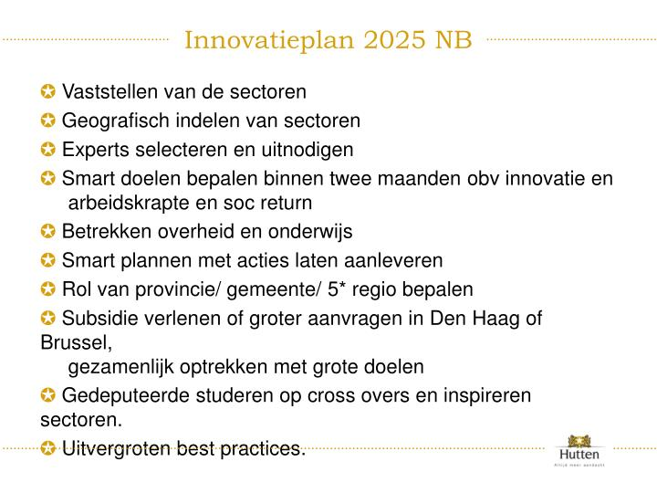 Innovatieplan 2025 NB