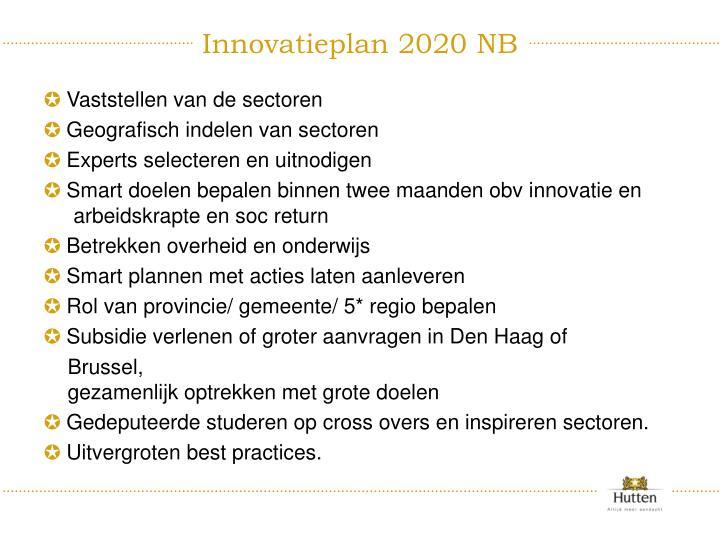 Innovatieplan 2020 NB