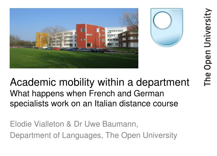 Academic mobility within a department