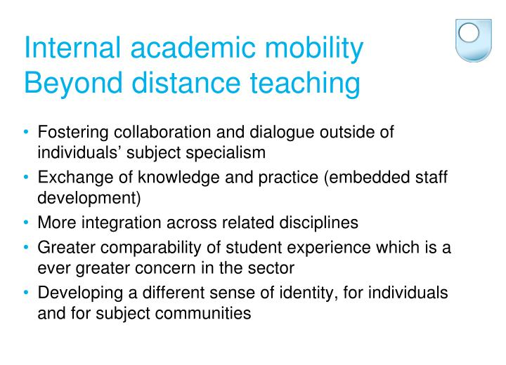 Internal academic mobility