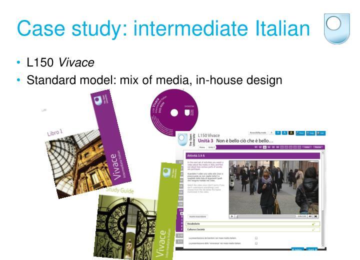 Case study: intermediate Italian