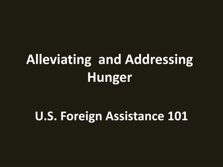 u s foreign assistance 101 n.