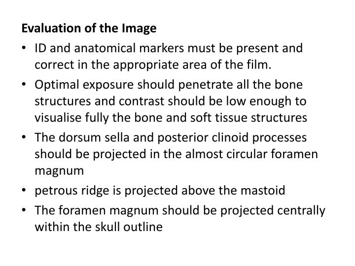 Evaluation of the Image