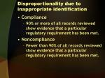 disproportionality due to inappropriate identification10