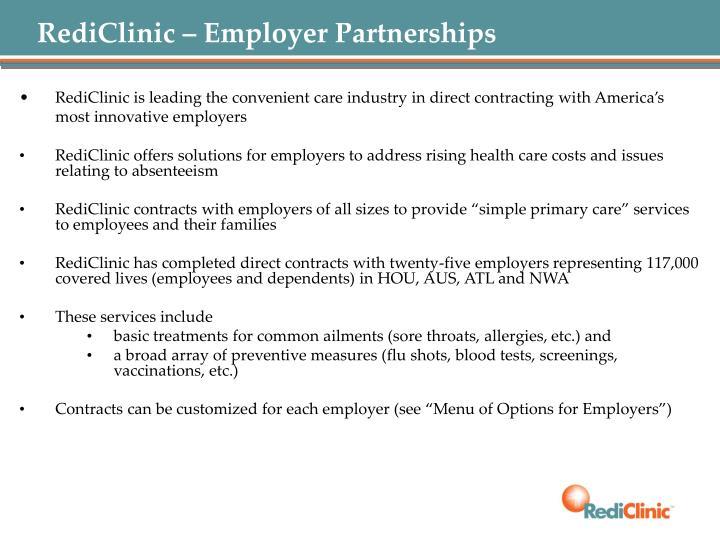 RediClinic – Employer Partnerships