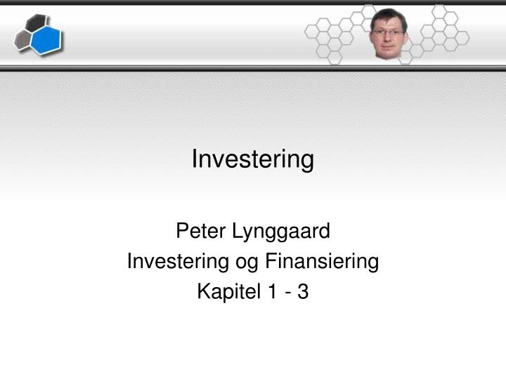 investering n.
