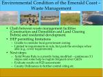 environmental condition of the emerald coast waste management
