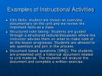 examples of instructional activities