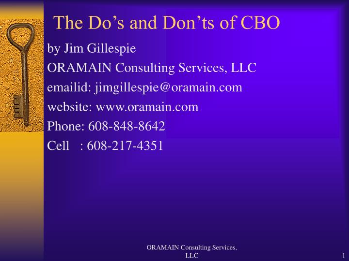 the do s and don ts of cbo n.