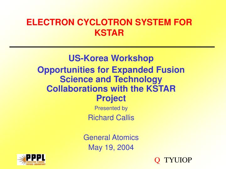 electron cyclotron system for kstar n.
