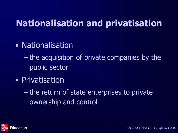 privatisation of public services and the natural monopoly The main advantage of privatization is to generate financial resources for the government in order to generate resources disinvestment of public sector enterprises 2 optimum utilisation of resources it has been observed that the public sector has failed in optimal use of national resources the.