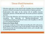 tissue fluid formation