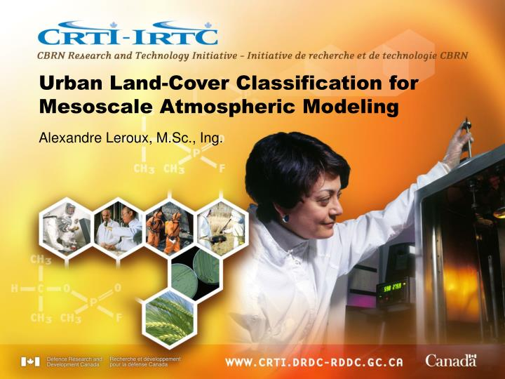 urban land cover classification for mesoscale atmospheric modeling n.