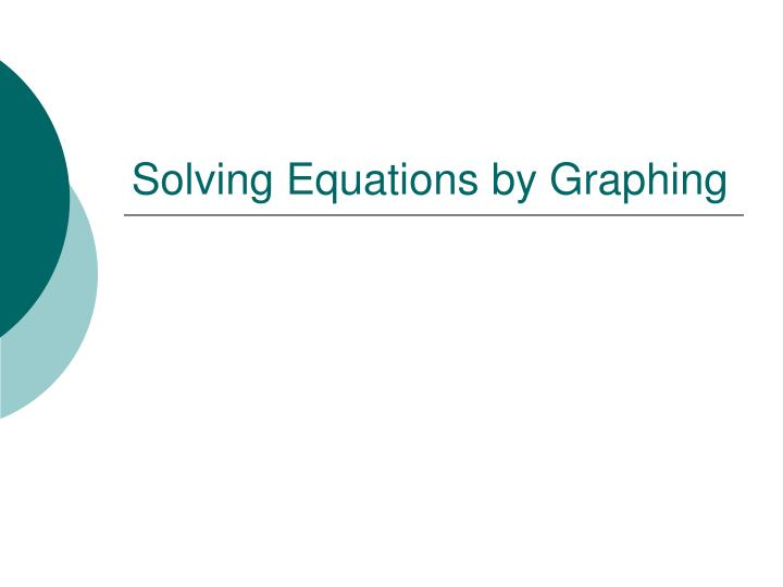 solving equations by graphing n.
