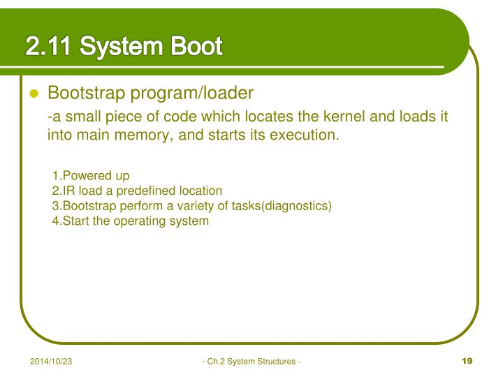 2.11 System Boot