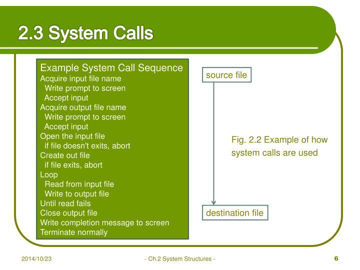 2.3 System Calls