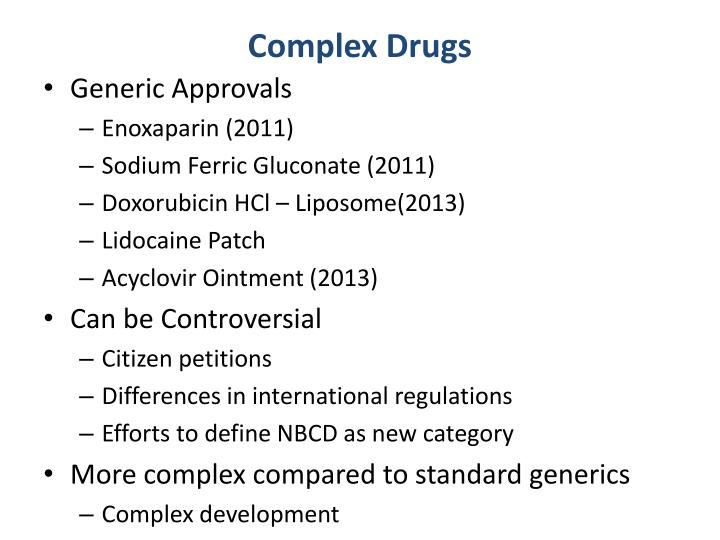 Complex Drugs