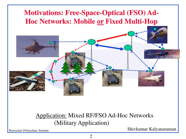 Ppt ultra-high-speed wireless ad-hoc networks using free-space.