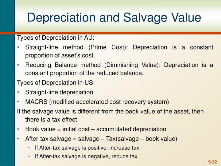 Depreciation and Salvage Value