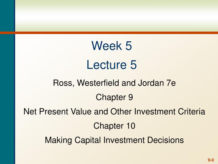 Week 5 lecture 5