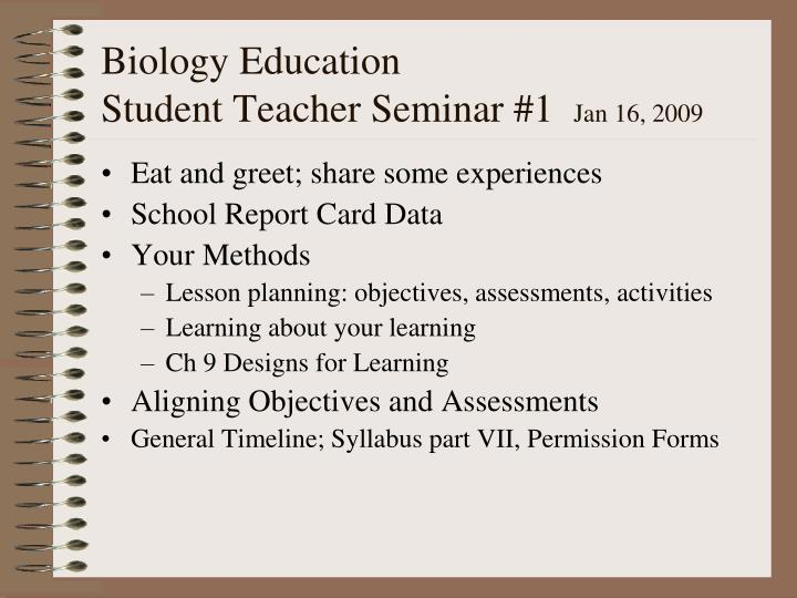 biology seminar powerpoint presentation