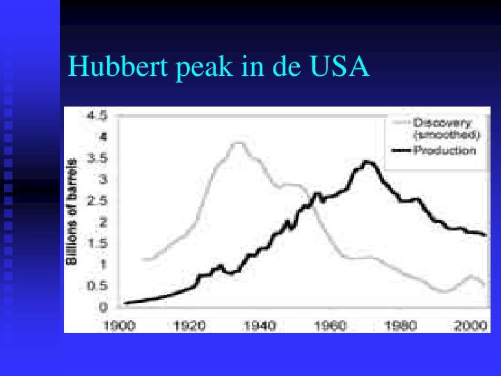 Hubbert peak in de USA