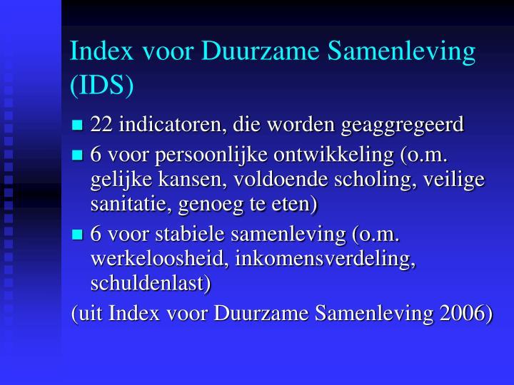 Index voor Duurzame Samenleving (IDS)