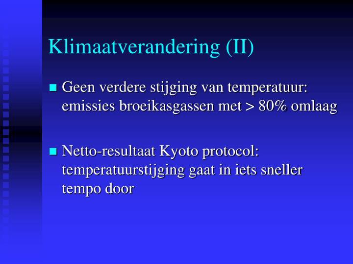 Klimaatverandering (II)
