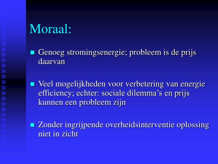 Moraal: